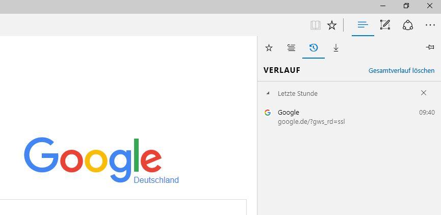 Browserverlauf ansehen